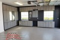 C-108 Garage Storage Cabinets Lone Oak Longo North Sea Wall Garage Floor Epoxy Flake Concrete Coating GC-02 Graystone 08