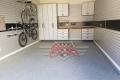C-096 Garage Storage Cabinets Colleyville Adams Satin Stainless Garage Floor Epoxy Flake Concrete Coating GC-02 Graystone 011