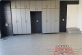 C-108 Garage Storage Cabinets Lone Oak Longo North Sea Wall Garage Floor Epoxy Flake Concrete Coating GC-02 Graystone 01