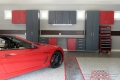 C-004 Garage Storage Cabinets Dallas Aulds Garage Floor Epoxy Flake Concrete Coating  GC-02 Graystone Custom Design Border 01
