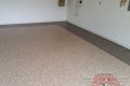 133 Garage Floor Epoxy Flake Concrete Coating Dallas Donath B-517 Outback Border 02