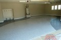 15 Garage Floor Epoxy Flake Concrete Coating Mansfield Lawhorne B-507 Border Swoop Design 01
