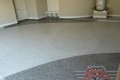 15 Garage Floor Epoxy Flake Concrete Coating Mansfield Lawhorne B-507 Border Swoop Design 04