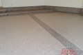 242 Garage Floor Epoxy Flake Concrete Coating Plano Grub B-822 Chestnut Border 04