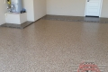 131 Garage Floor Epoxy Flake Concrete Coating Denton Mills B-517 Outback Border 01