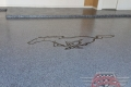 193 Garage Floor Epoxy Flake Concrete Coating Fort Worth Webb B-127 Cabin Fever Border Mustang 17
