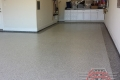 208 Garage Floor Epoxy Flake Concrete Coating Frisco Hayslip B-127 Cabin Fever Border 03