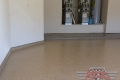 214 Garage Floor Epoxy Flake Concrete Coating Denton Siefkin B-822 Chestnut Border 04