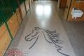 58 Garage Floor Epoxy Flake Concrete Coating Pilot Point Sims-Barn B-822 Chestnut Border  Horse02