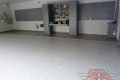 67 Garage Floor Epoxy Flake Concrete Coating Fort Worth Wilson GC-02 GrayStone Border 06