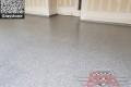 449 Garage Floor Epoxy Flake Concrete Coating Forney Aurentz GC-02 Graystone 05