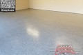 460 Garage Floor & Mud Room Epoxy Flake Concrete Coating Grandbury Luttrell GC-02 Graystone & B-516 Woodland 14