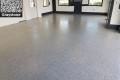 462 Garage Floor Epoxy Flake Concrete Coating Lone Oak Longo GC-02 Graystone 02