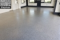 462 Garage Floor Epoxy Flake Concrete Coating Lone Oak Longo GC-02 Graystone 02
